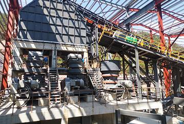 浙江时产450吨凝灰岩破碎制砂生产线