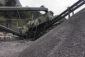 甘肃时产180-250吨石灰石移动破碎生产线
